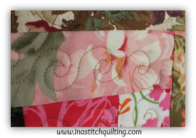 Swirl Stitch on Sandy Quilt # 4
