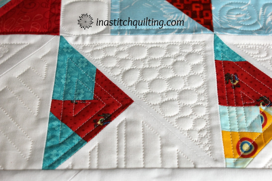 Bubbles and Geometric Stitches on Jenny's Quilt