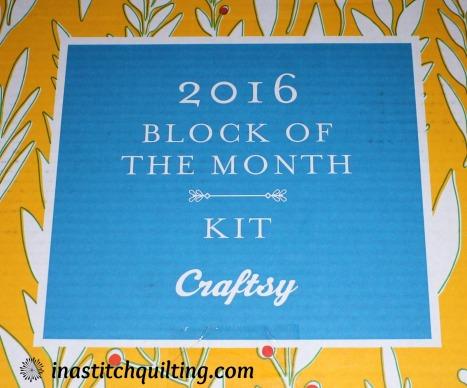 2016 BOM Kit from Craftsy