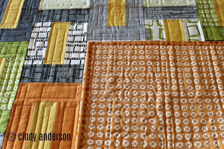 A Look at Both the Top and Back of Mr. B's Quilt