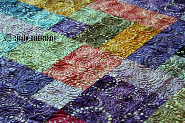 A Sea of Swirls on Quinnn H Quilt