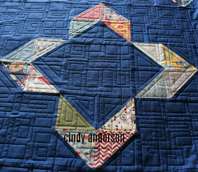 A View from the Front of Tierney's Happy Endings Quilt