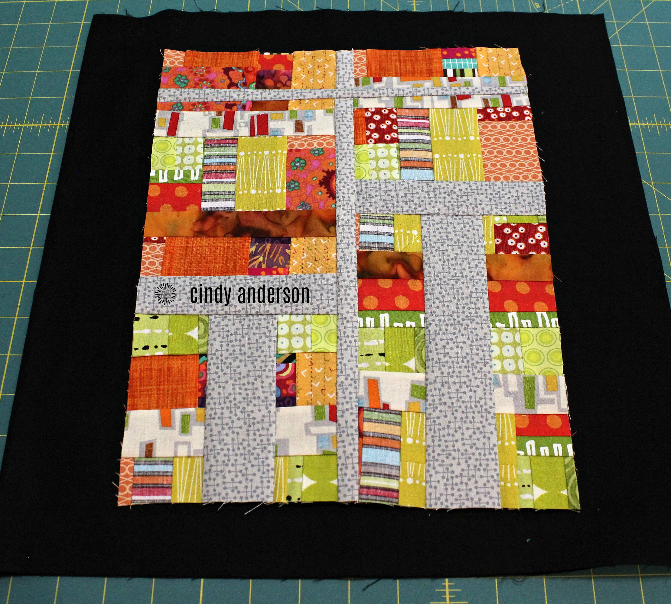 Art Quilt # 22_ Crossroads with Black Backing