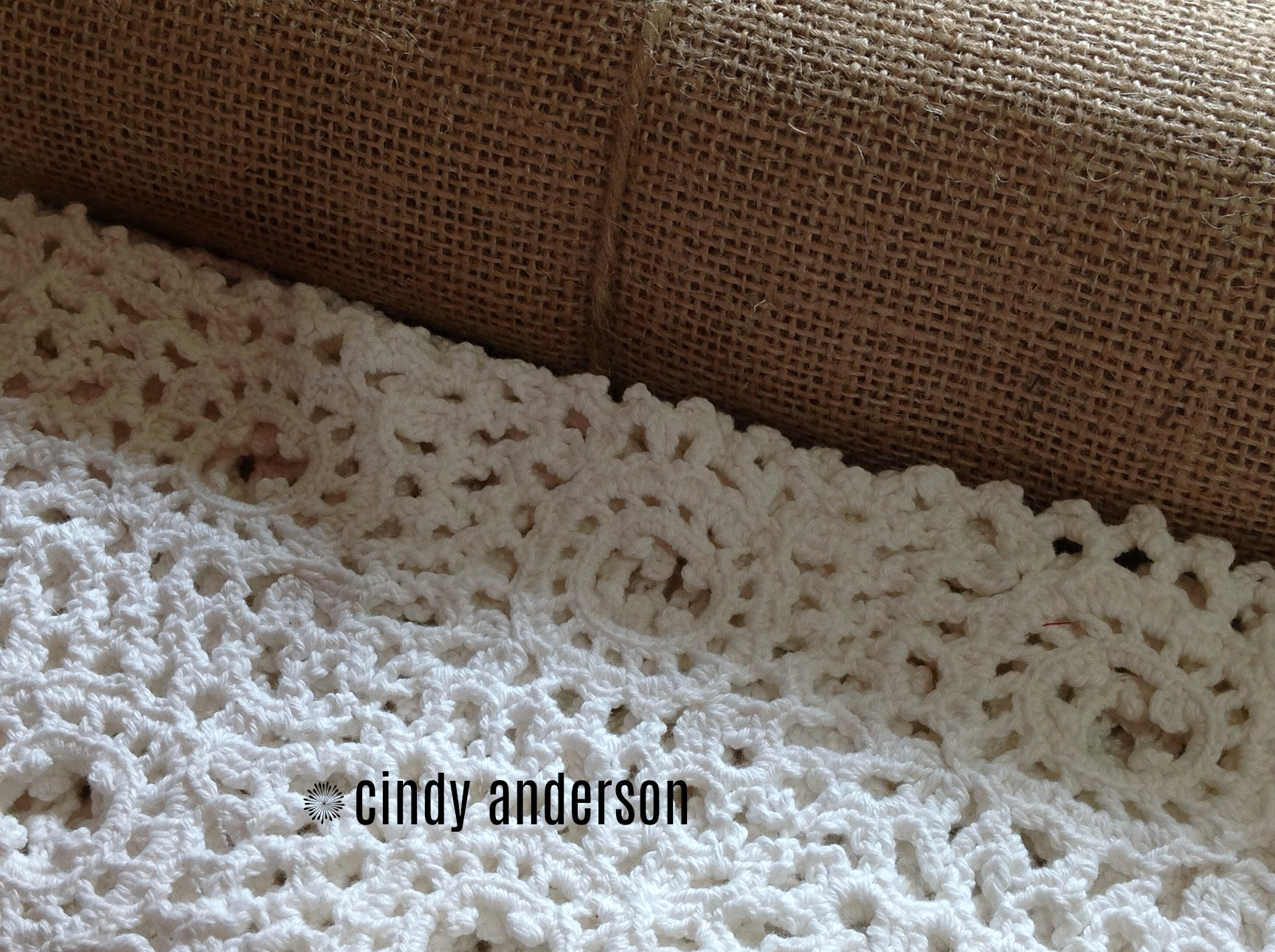 Burlap and Crochet
