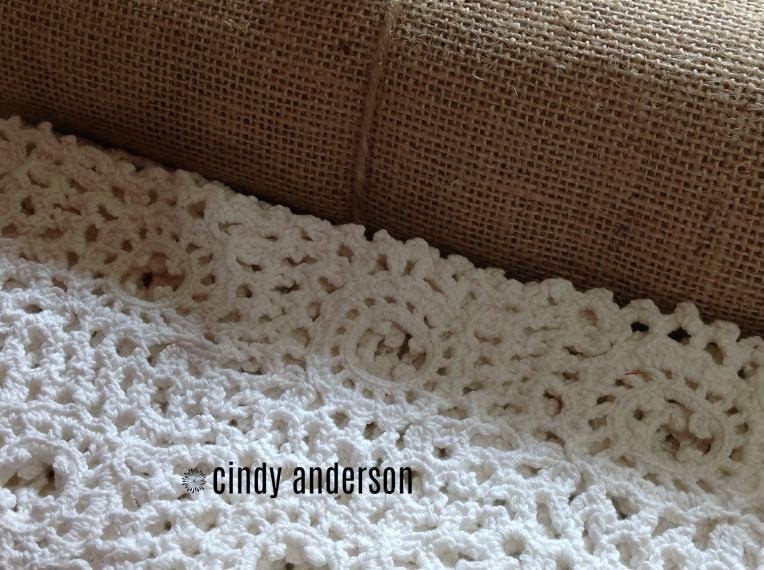 Burlap and Crochet