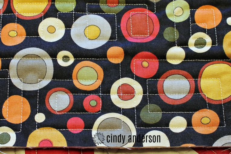 The Back of Barb M's Card Trick Quilt