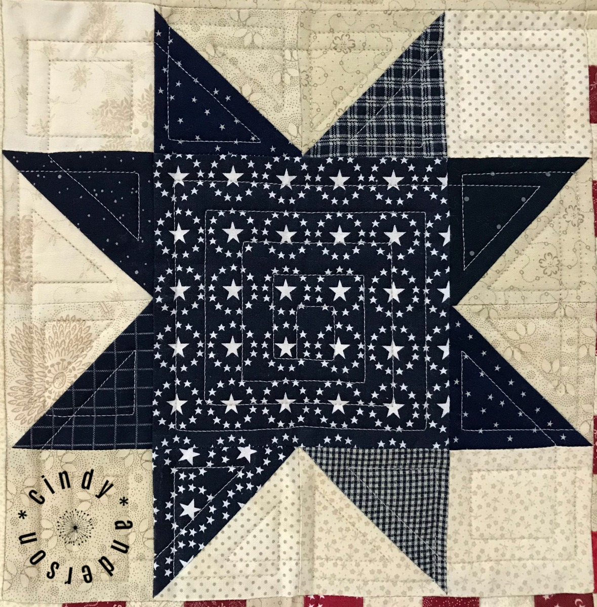 Mom's Stars and Stripes Table Quilt