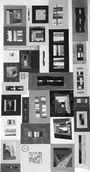 Mystery QAL Day 11, Design Wall Mono Tones