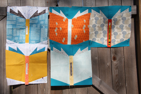 Elana's Very Creative In-Progress Favorite Book Quilt
